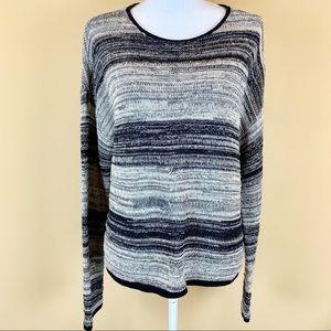 Eileen Fisher striped heathered organic sweater